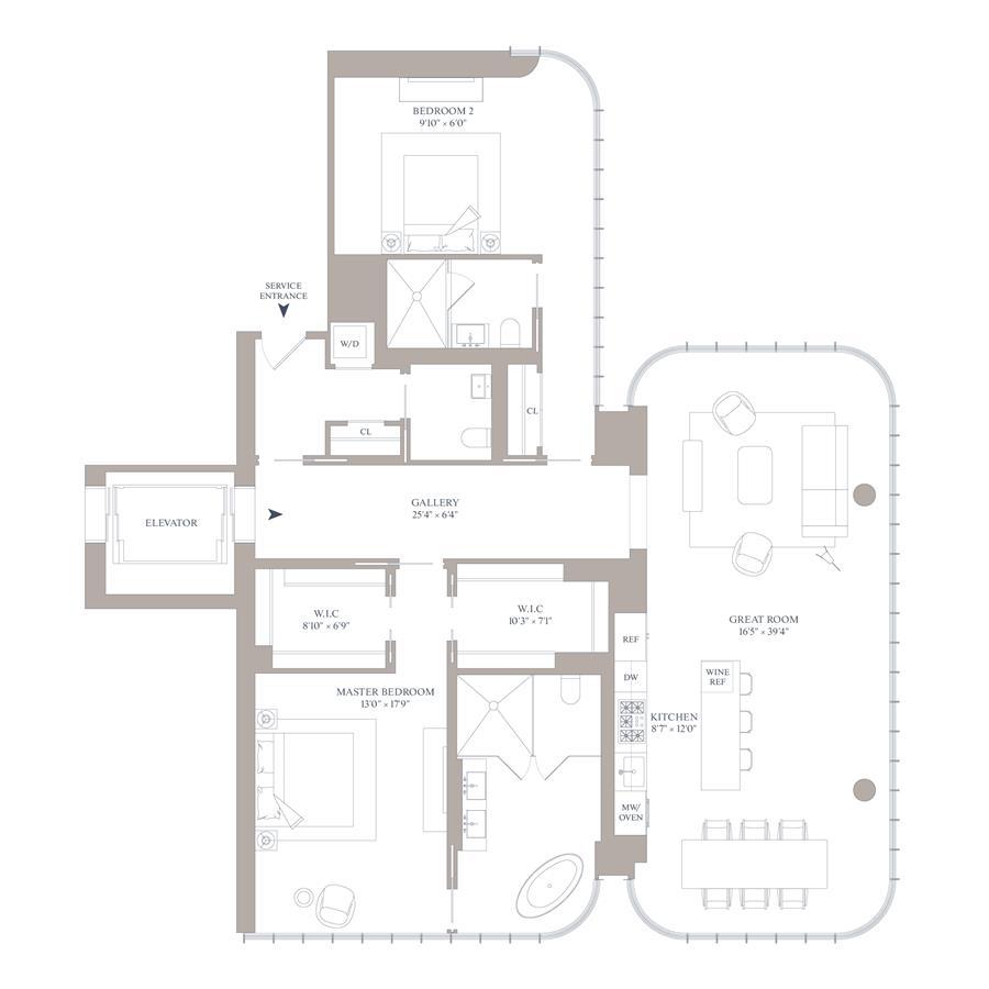 Floor plan of 565 Broome Street, S25B - SoHo - Nolita, New York