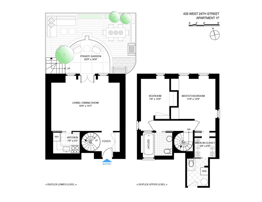 Floor plan of West 24 St Owners Corp, 433 West 24th St, 1F - Chelsea, New York