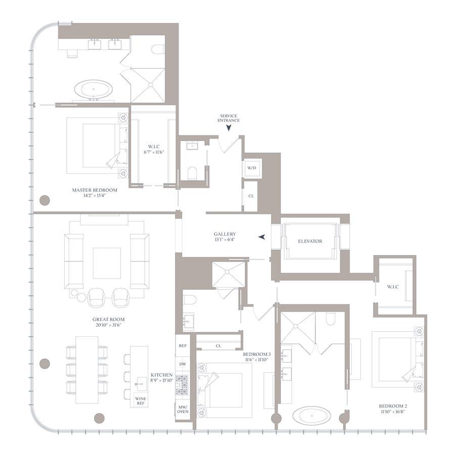 Floor plan of 565 Broome St, N22A - SoHo - Nolita, New York