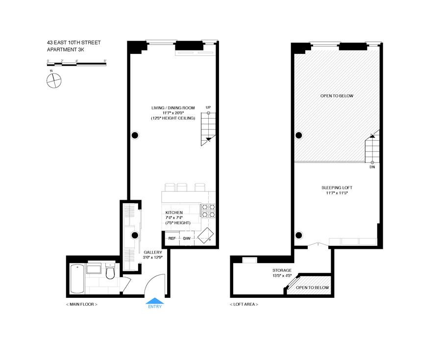 Floor plan of 43 East 10th St, 3K - Greenwich Village, New York