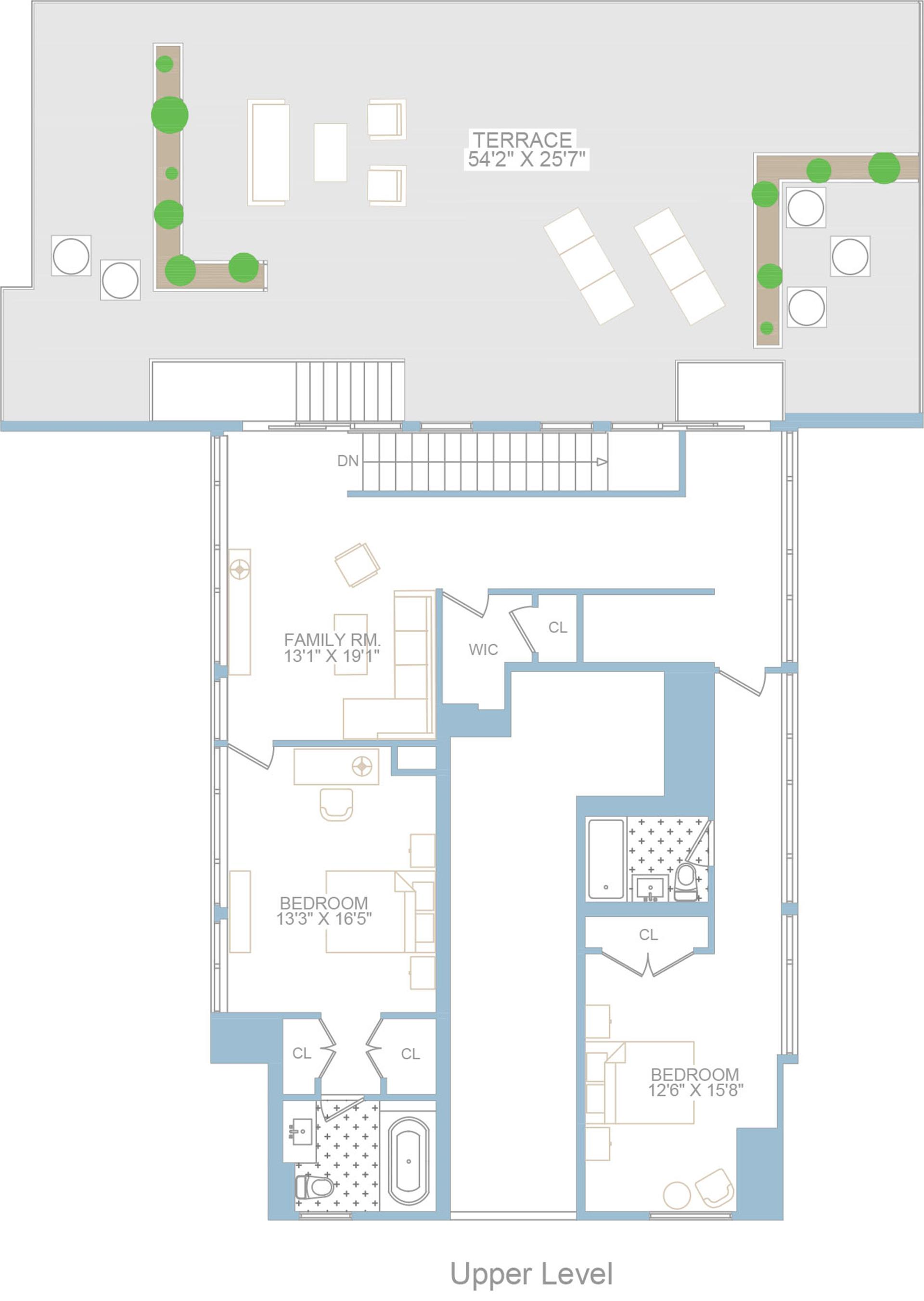 Floor plan of TRIBECA SUMMIT, 415 Greenwich St, PHC - TriBeCa, New York