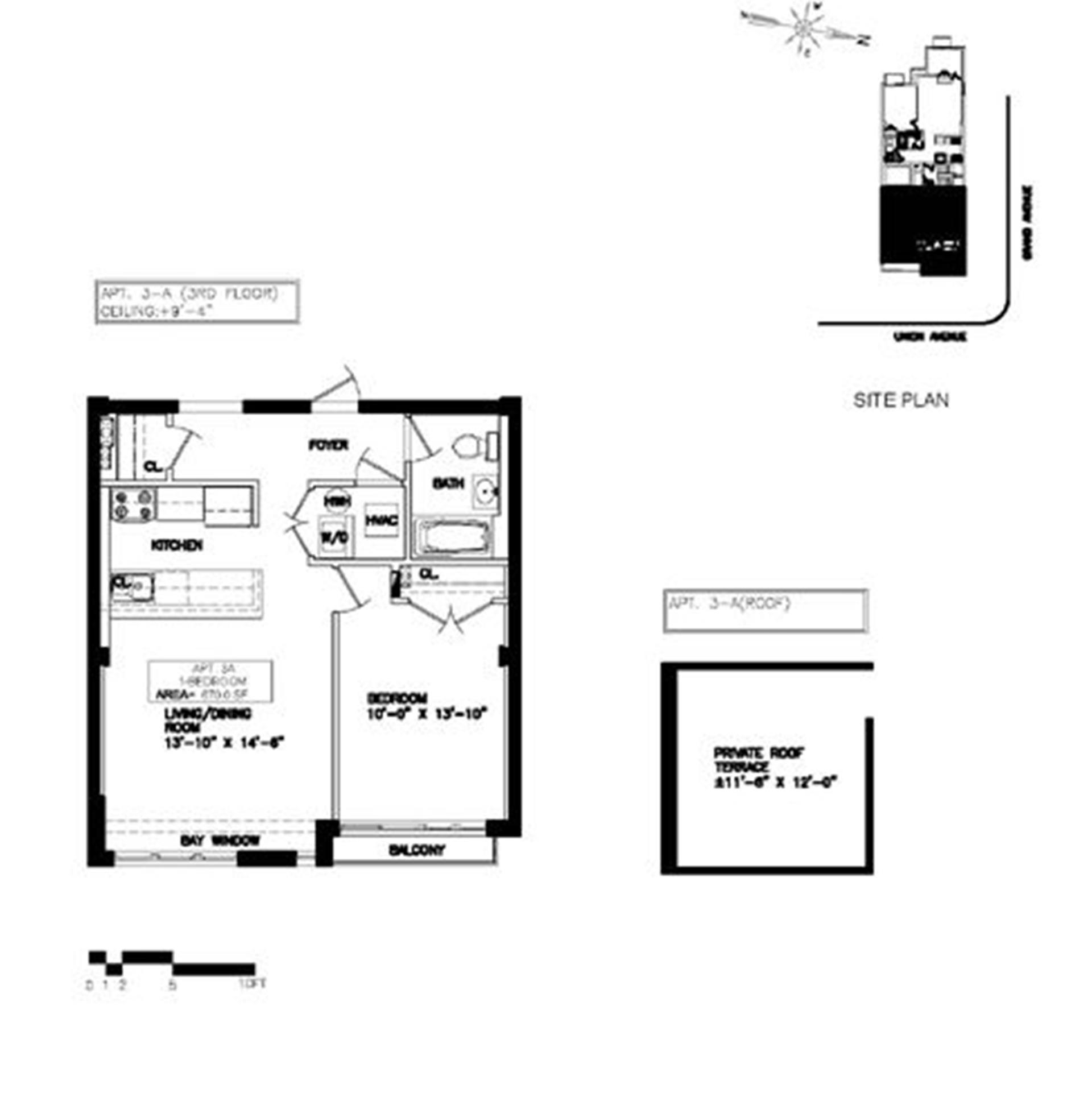 Floor plan of 345 Union Avenue, 3A - Williamsburg, New York