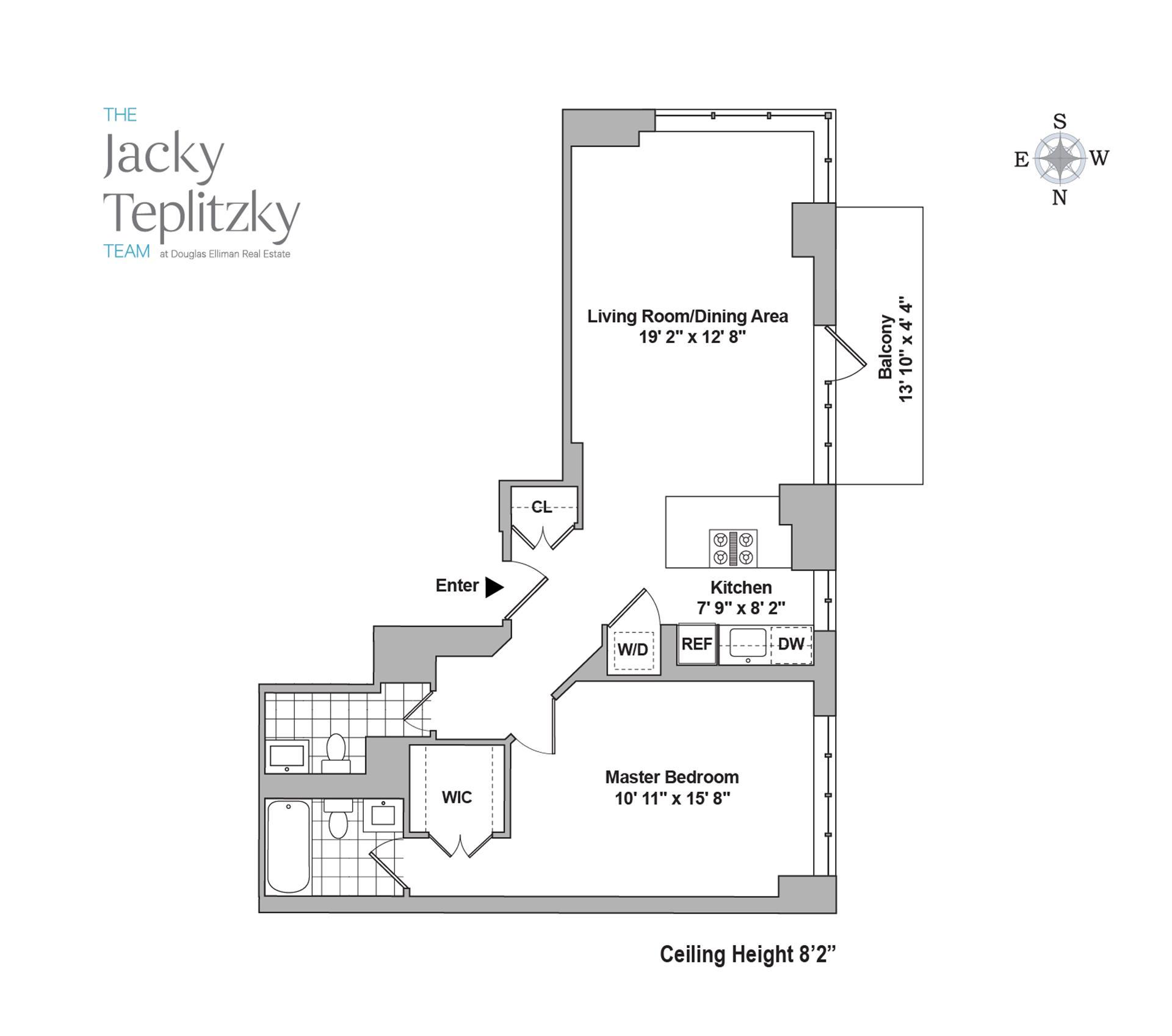 Floor plan of Maison East, 1438 Third Avenue, 22A - Upper East Side, New York