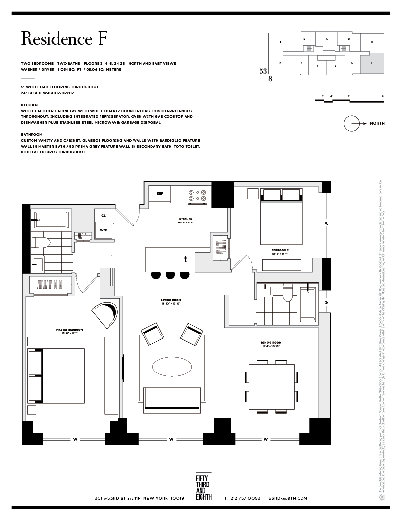 Floor plan of Fifty Third and Eighth, 301 West 53rd St, 20F - Clinton, New York