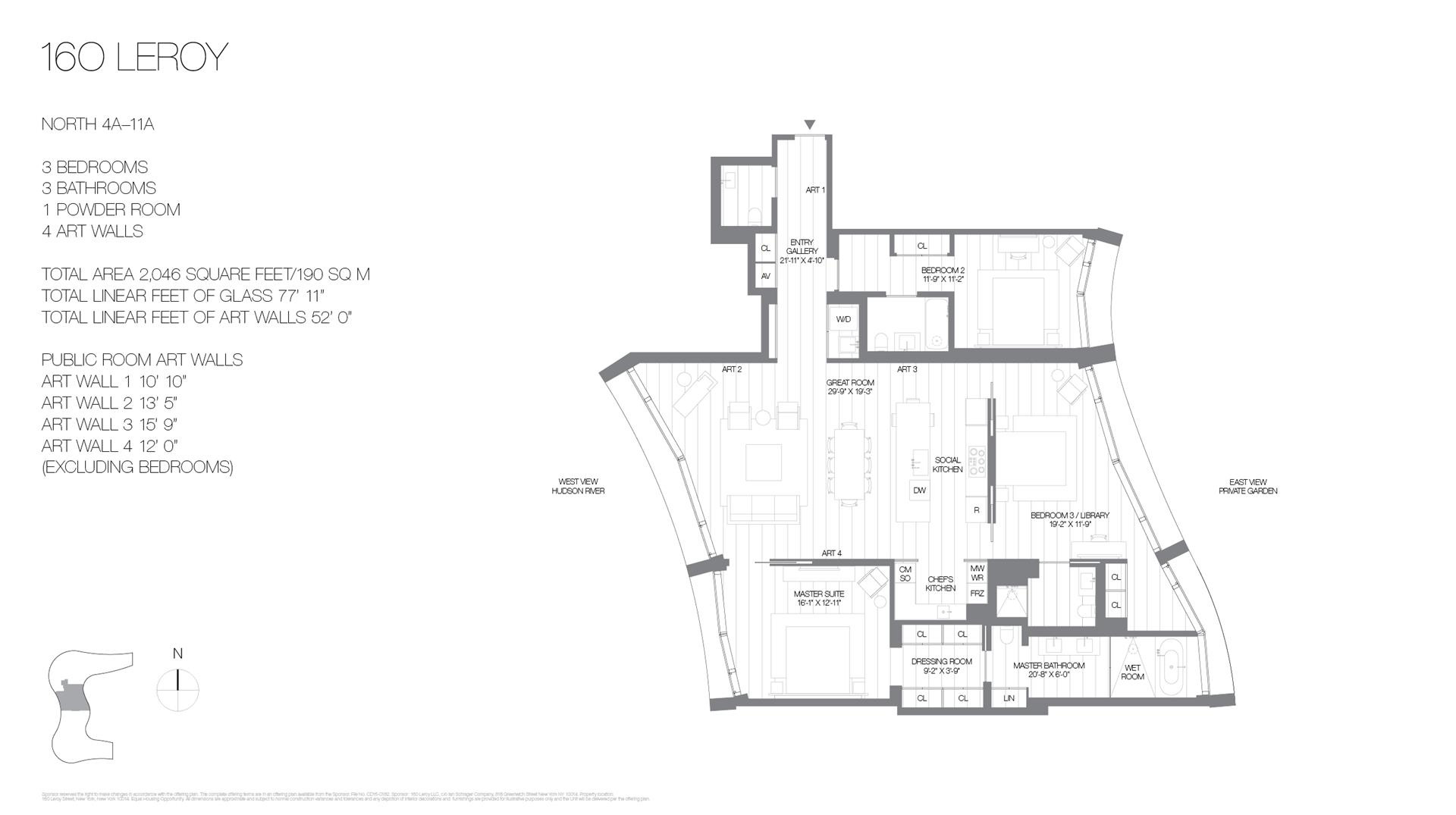 Floor plan of 160 Leroy St, NORTH6A - West Village - Meatpacking District, New York