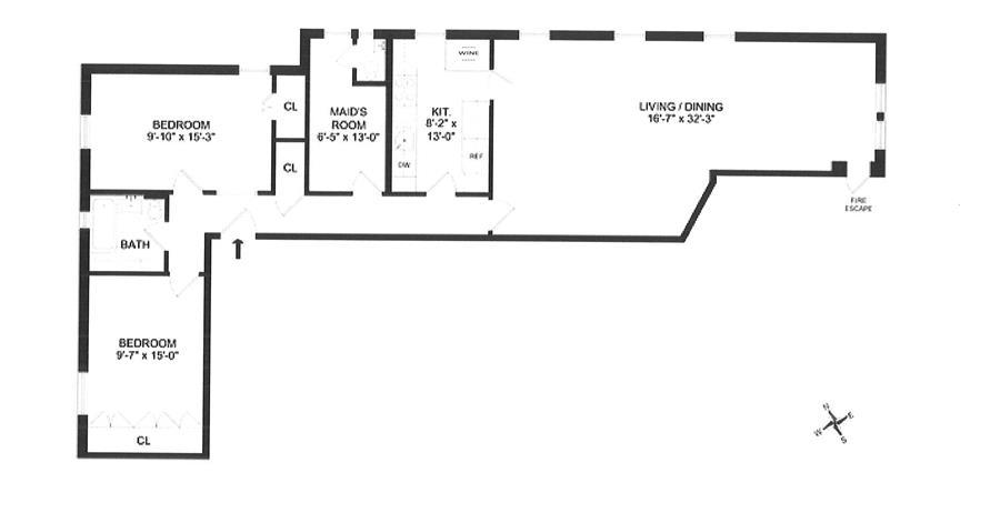 Floor plan of La Touraine, 50 Morningside Drive, 64 - Morningside Heights, New York