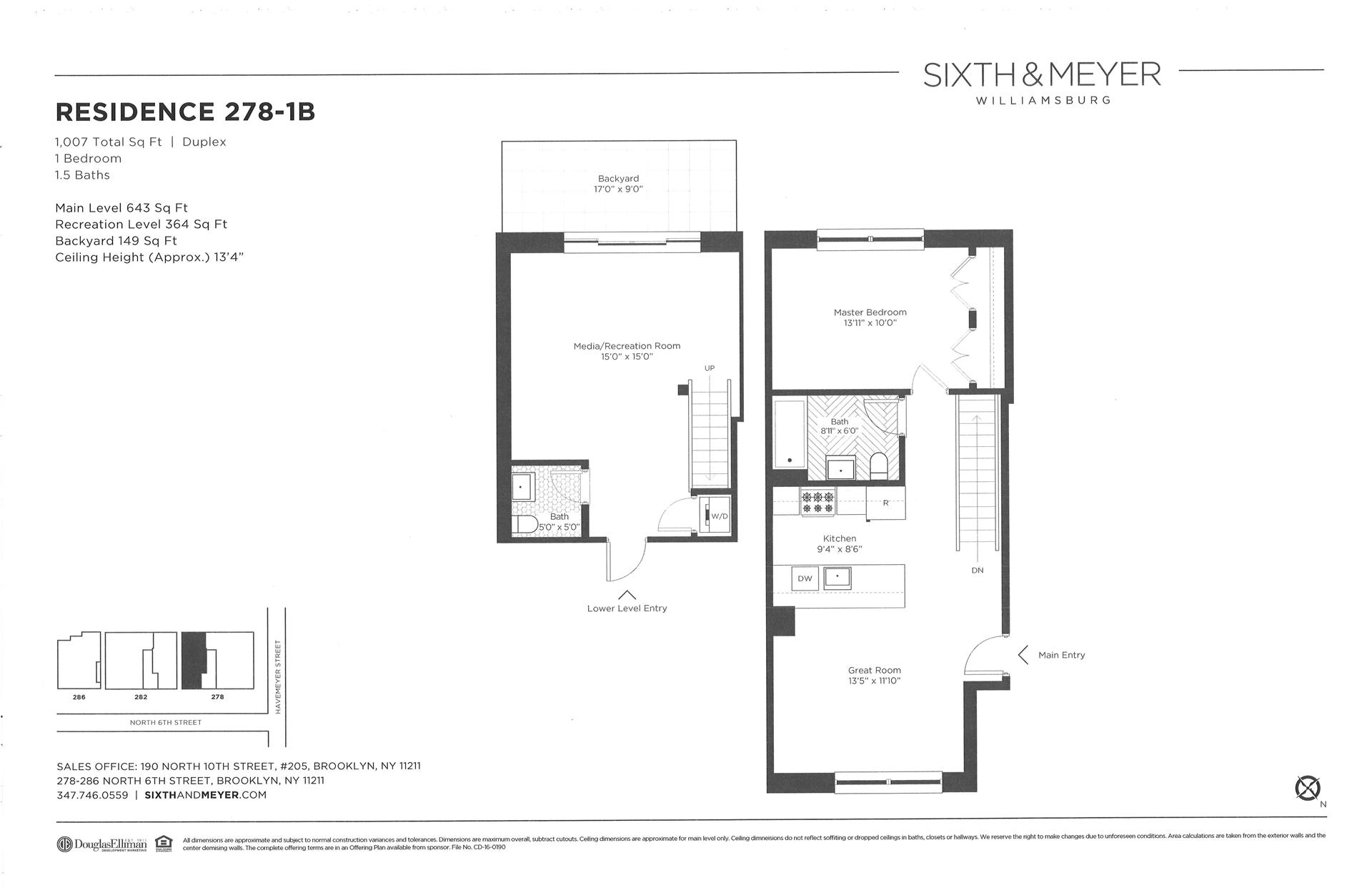 Floor plan of Sixth & Meyer, 278-286 North 6th St, 278/1B - Williamsburg, New York