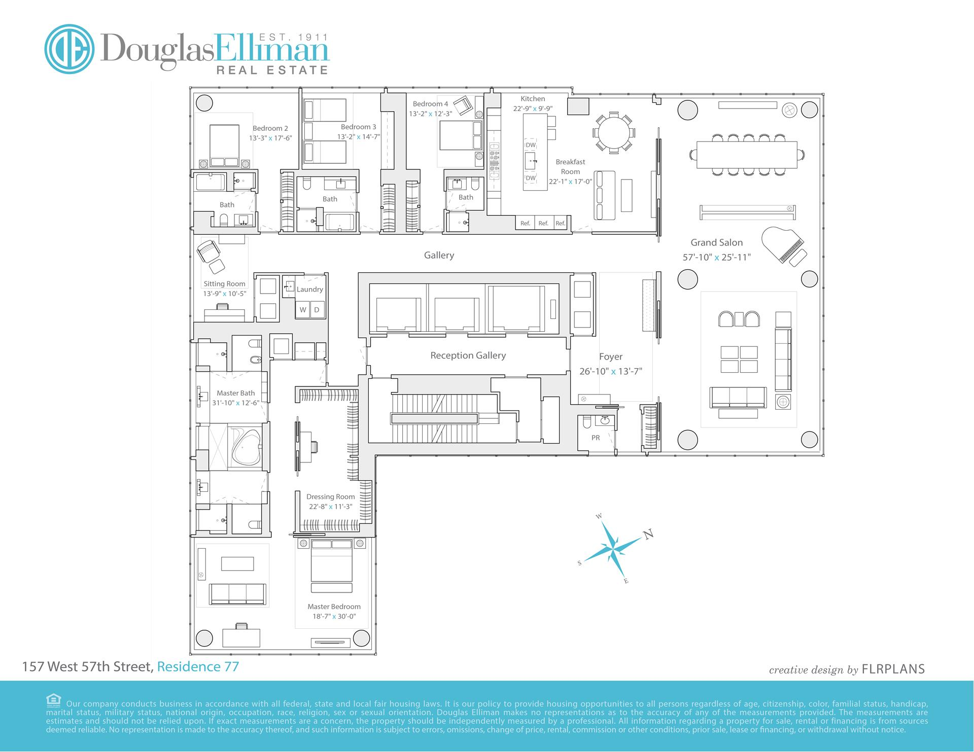 Floor plan of One57, 157 West 57th St, 77 - Central Park South, New York