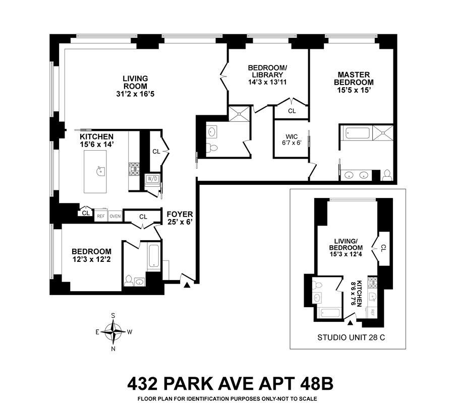 Floor plan of 432 Park Avenue, 28C48B - Midtown, New York