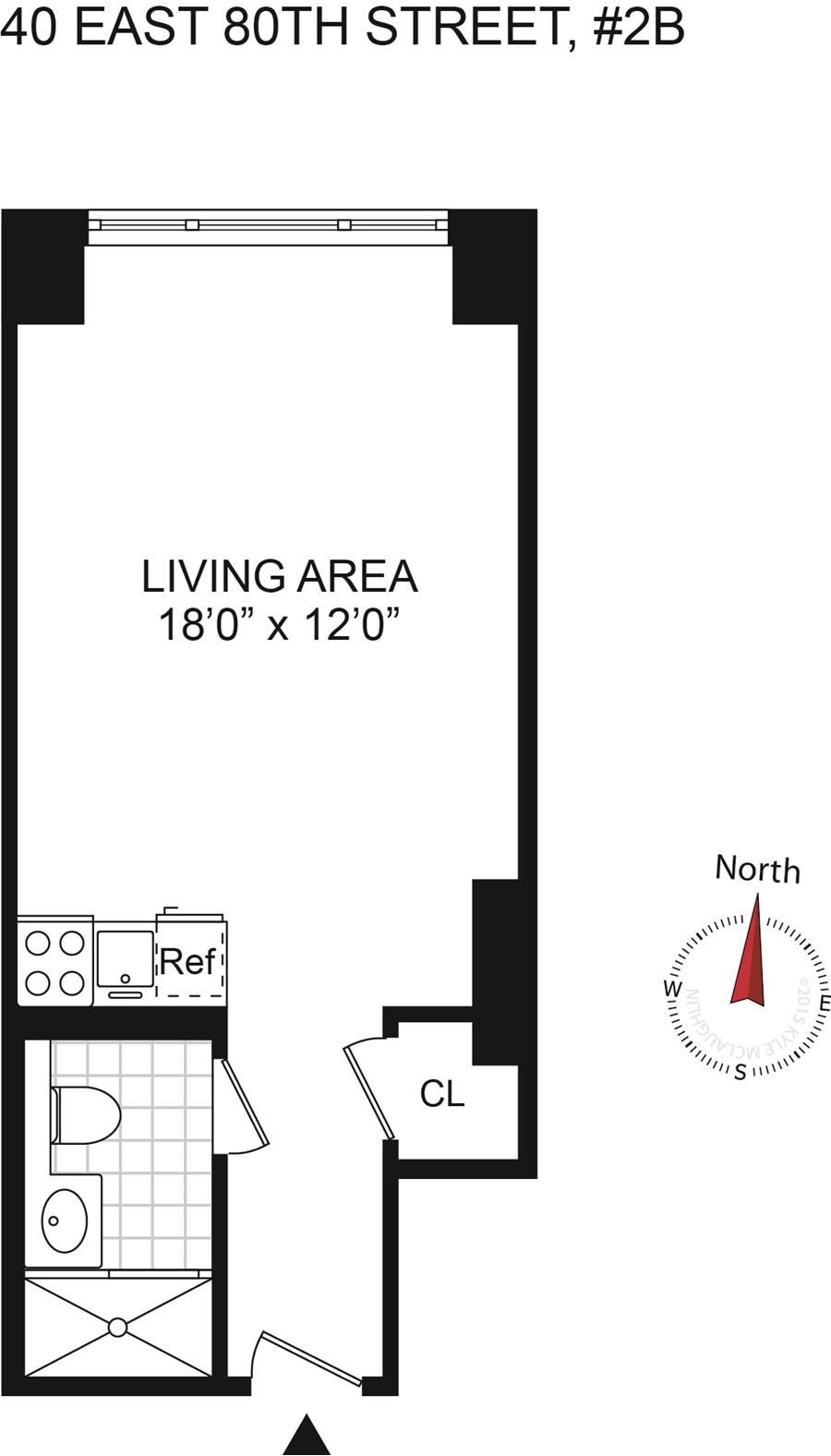 Floor plan of 40 East 80 Apartment Corp, 40 East 80th St, 2B - Upper East Side, New York