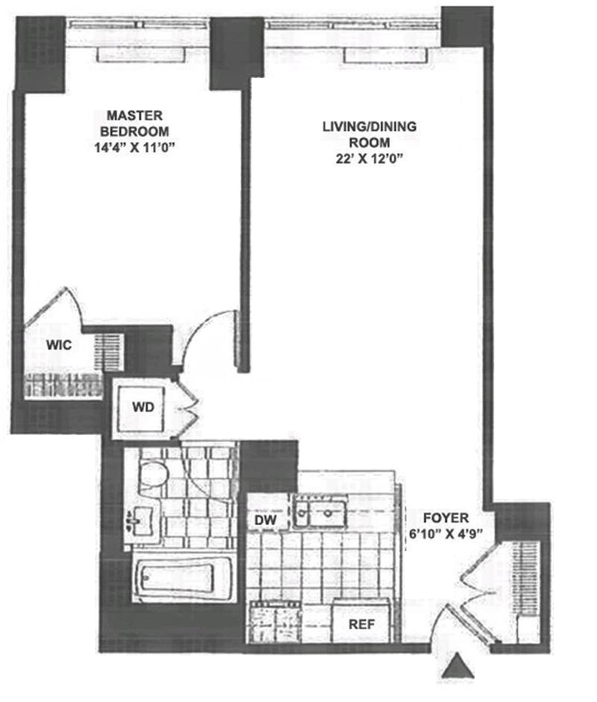 Floor plan of 120 Trump Place, 120 Riverside Boulevard, 11P - Upper West Side, New York