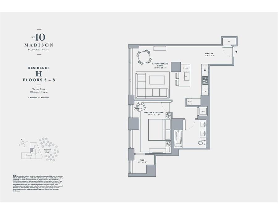 Floor plan of 10 madison square west 3h flatiron for 10 madison square west floor plans