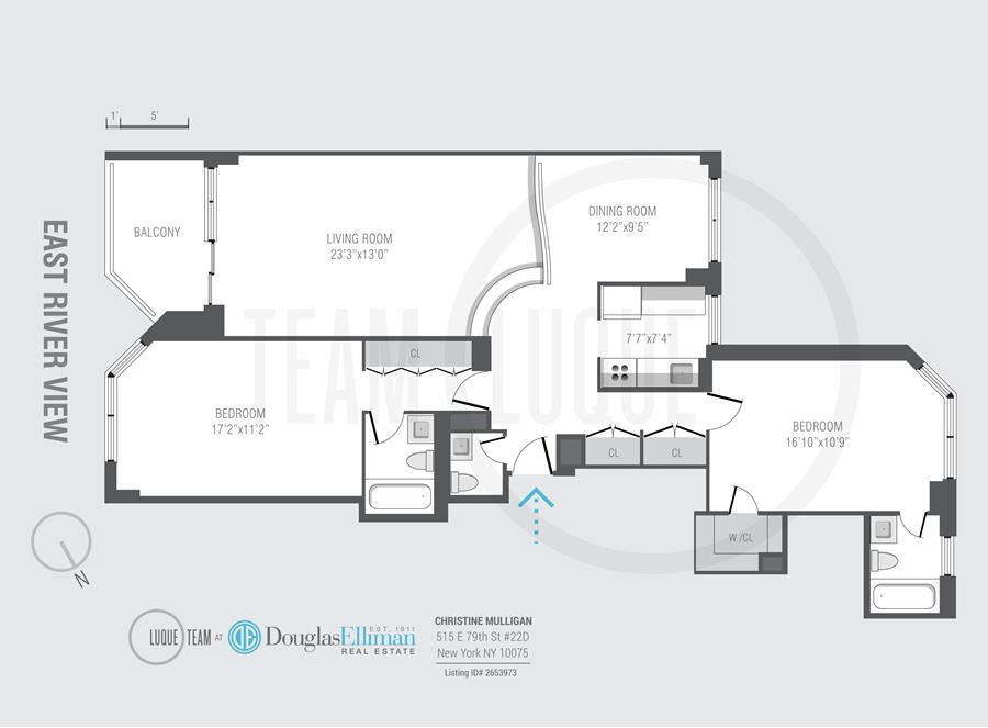 Floor plan of Asten House, 515 East 79th St, 22D - Upper East Side, New York