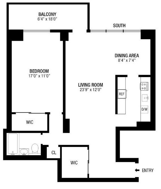 Floor plan of 382 Central Park West, 16W - Upper West Side, New York
