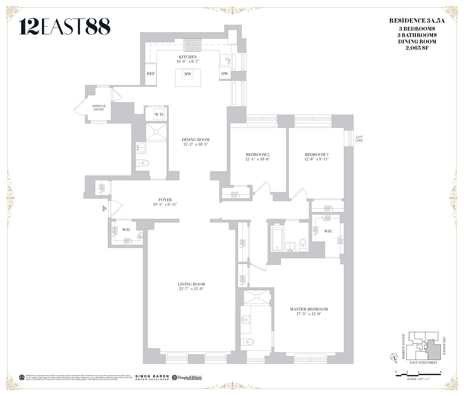 Floor plan of 12 East 88th St, 5A - Carnegie Hill, New York