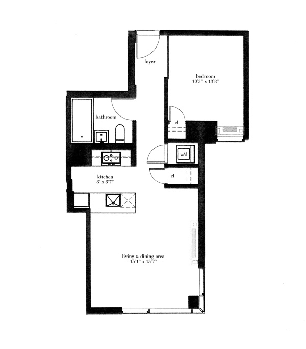 Floor plan of VERE, 26-26 Jackson Avenue, 704 - Long Island City, New York