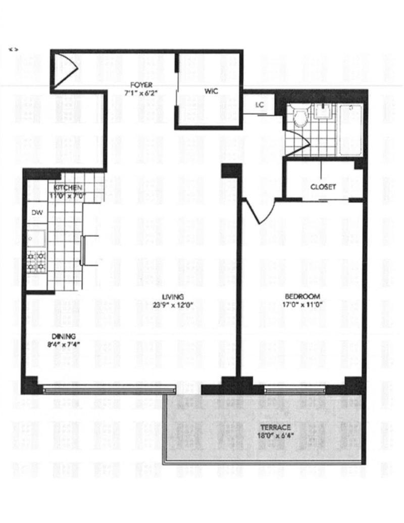 Floor plan of 400 CPW CONDOMINIUM, 400 Central Park West, 11W - Upper West Side, New York