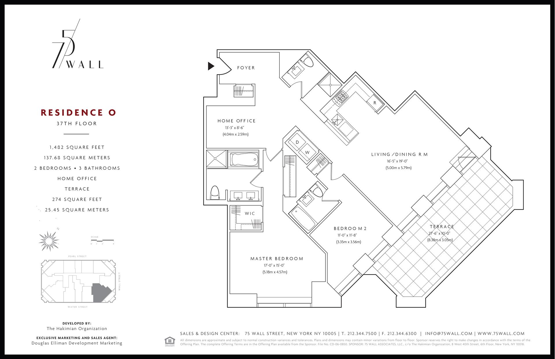 Floor plan of 75 Wall St, 37O - Financial District, New York