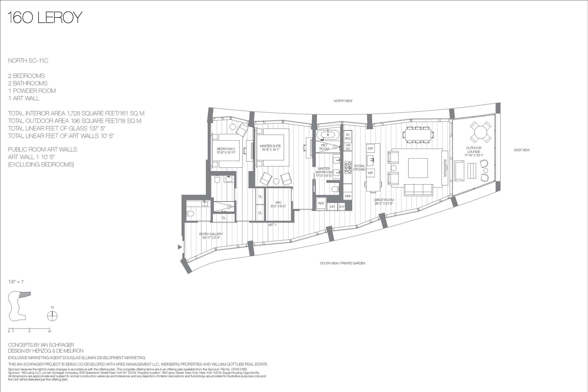 Floor plan of 160 Leroy St, NORTH11C - West Village - Meatpacking District, New York