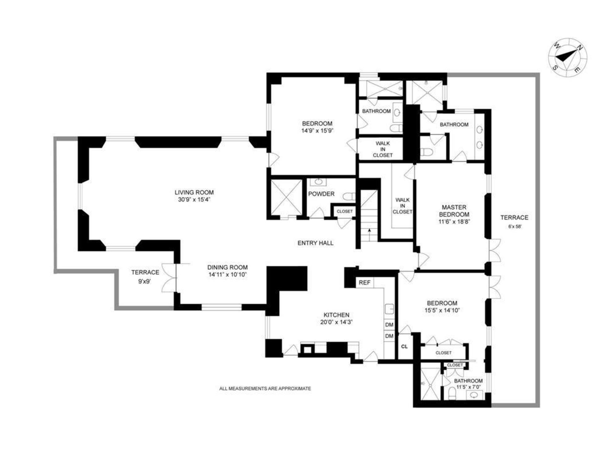 Floor plan of 510 Park Avenue, PENTHOUSEB - Upper East Side, New York