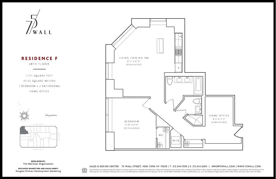 Floor plan of 75 Wall St, 28F - Financial District, New York
