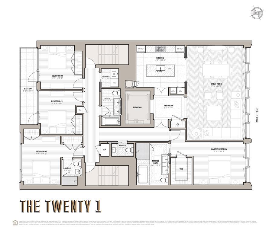Floor plan of 117 West 21st Street, 5THFLR - Chelsea, New York