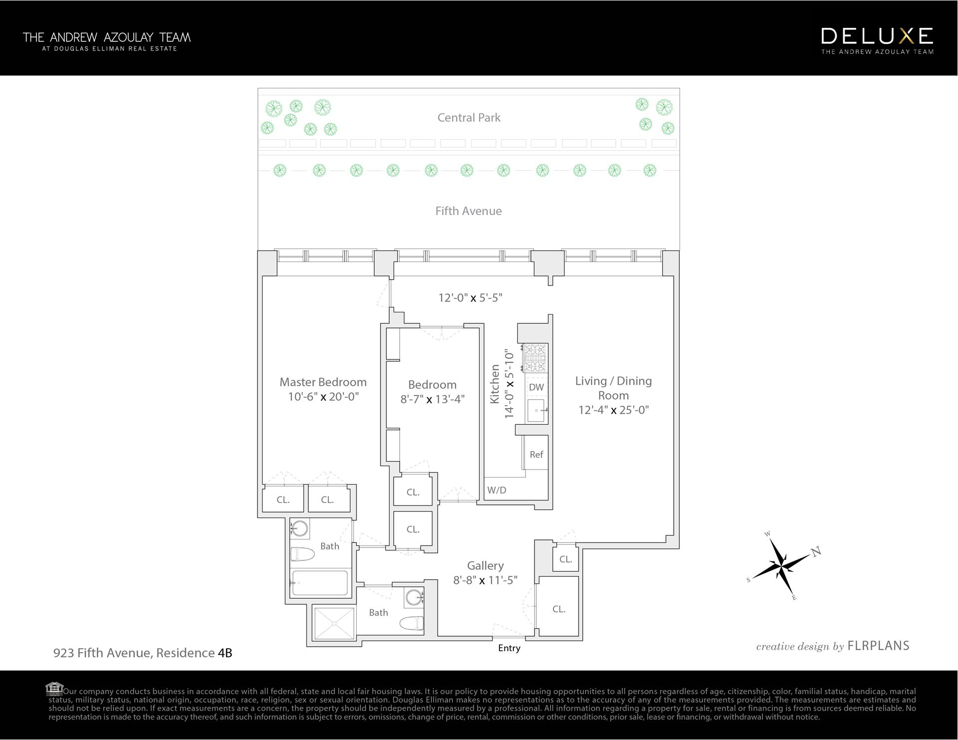 Floor plan of 923 Fifth Avenue, 4B - Upper East Side, New York