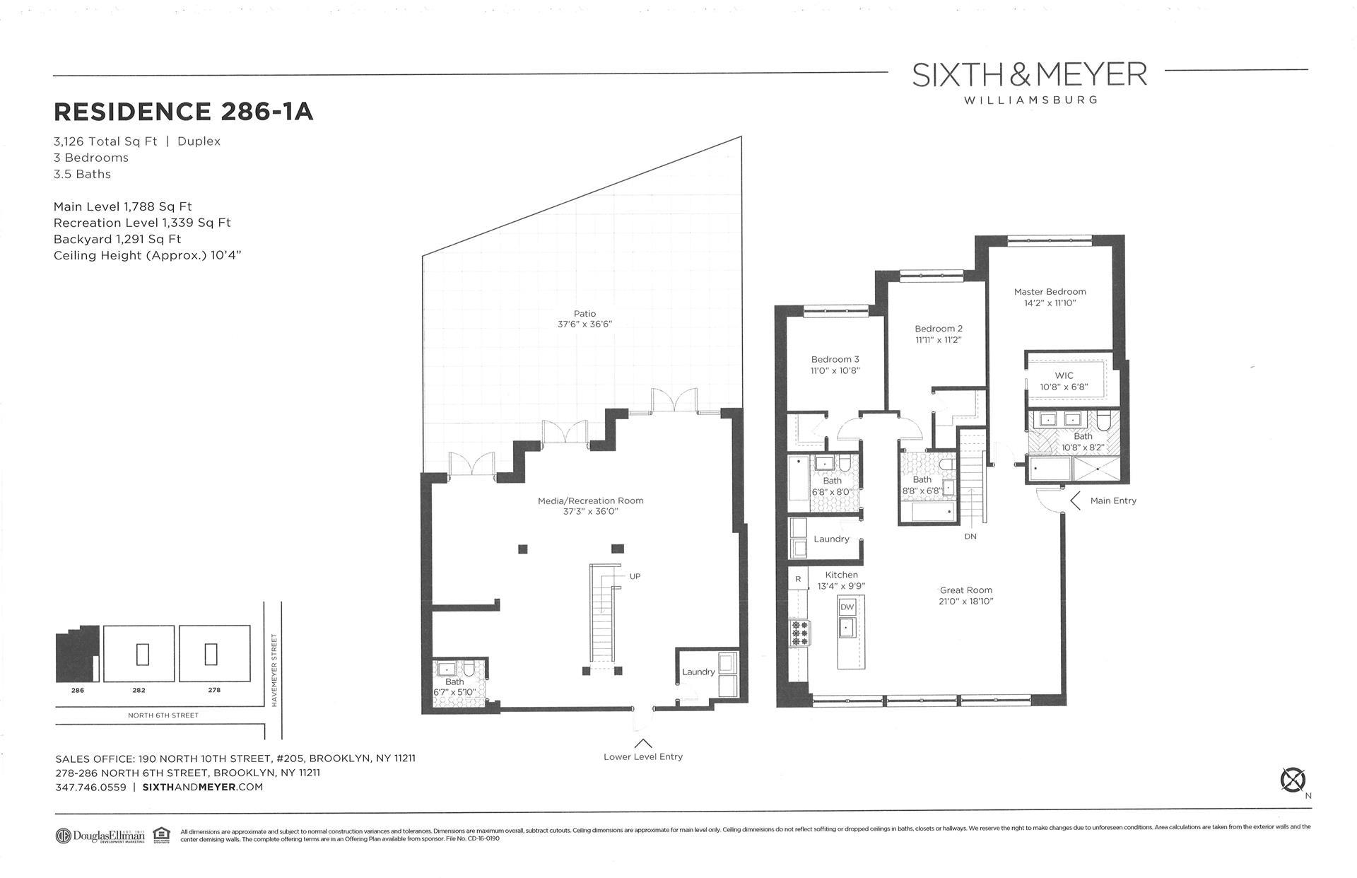 Floor plan of Sixth & Meyer, 278-286 North 6th Street, 286/1A - Williamsburg, New York