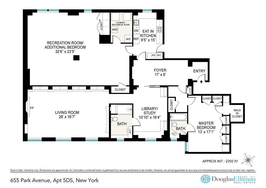 Floor plan of 655 Park Avenue, 5DS - Upper East Side, New York