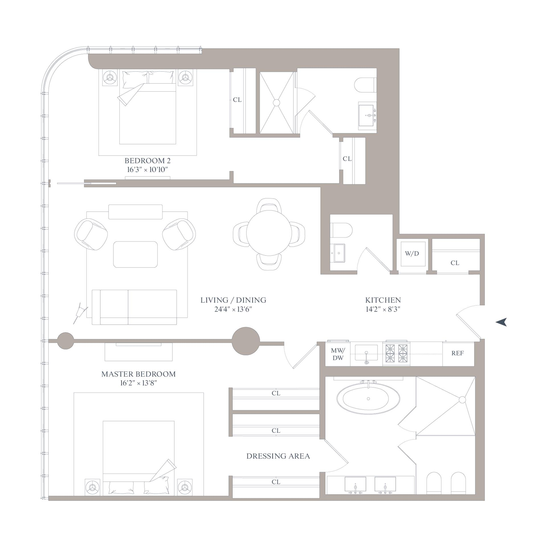 Floor plan of 565 Broome St, S11A - SoHo - Nolita, New York