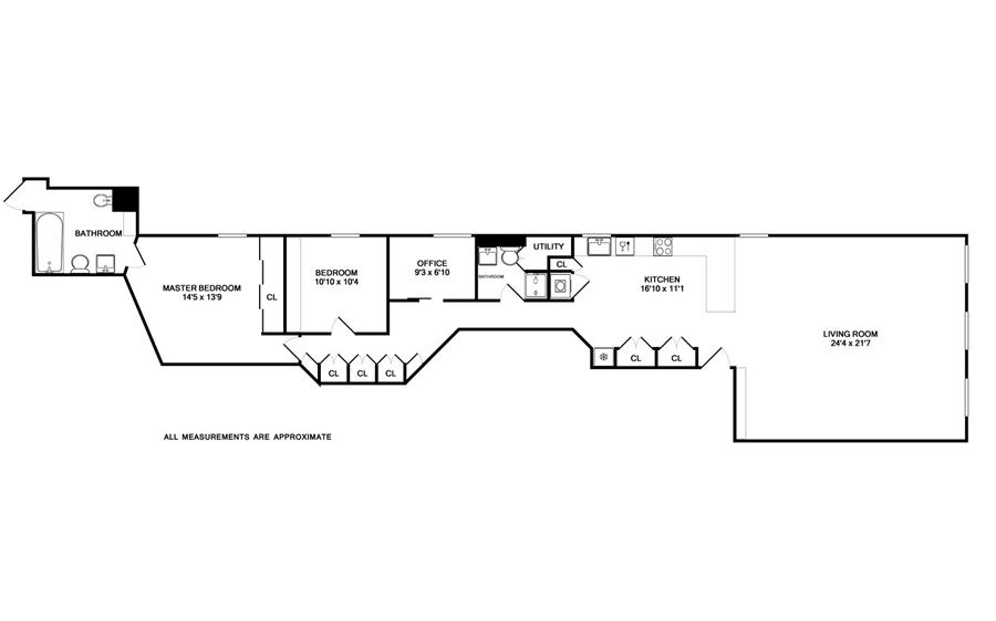 Floor plan of 59 Fourth Avenue, 7A - Greenwich Village, New York