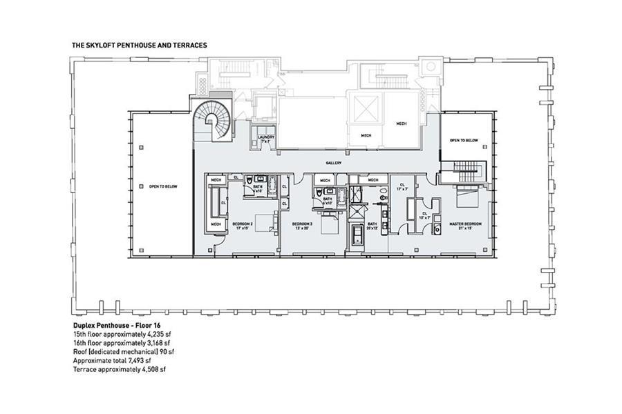 Floor plan of 145 Hudson Street, PH - TriBeCa, New York