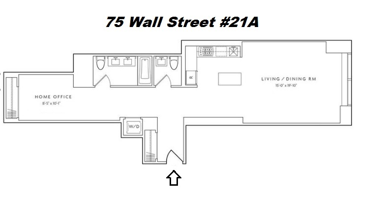 Floor plan of 75 Wall St, 21A - Financial District, New York