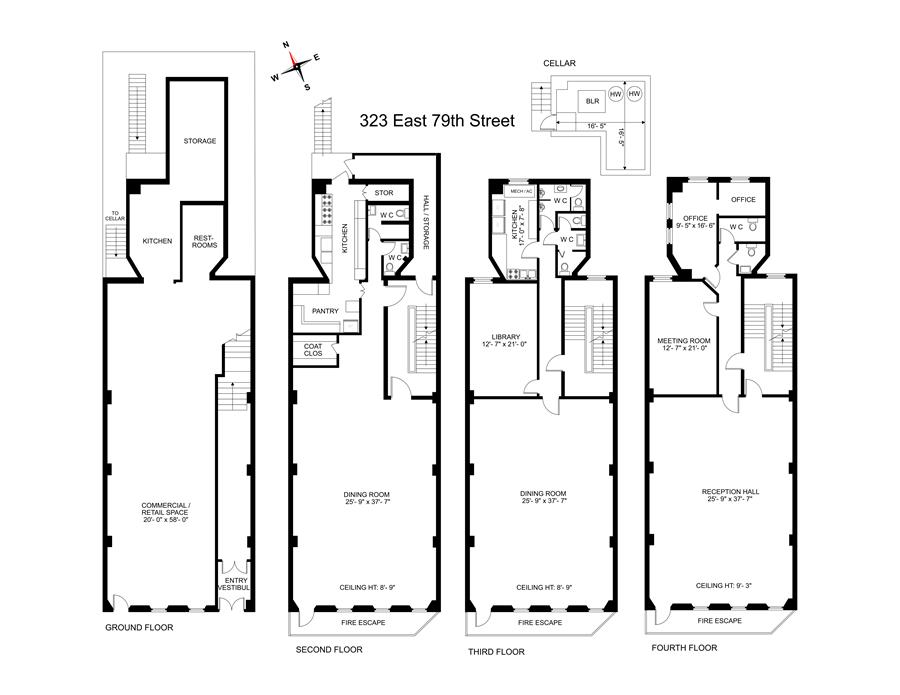Floor plan of 323 East 79th St - Upper East Side, New York