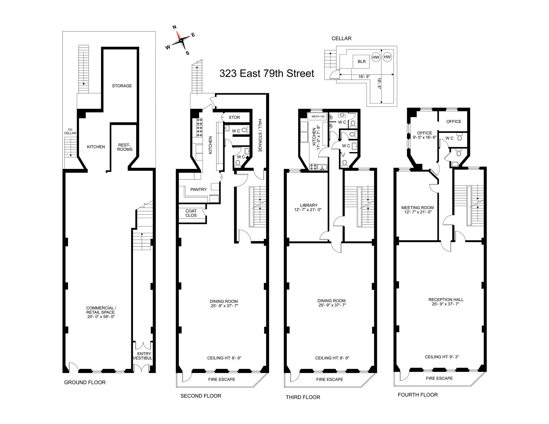 Floor plan of 323 East 79th St - Upper East Side, New York