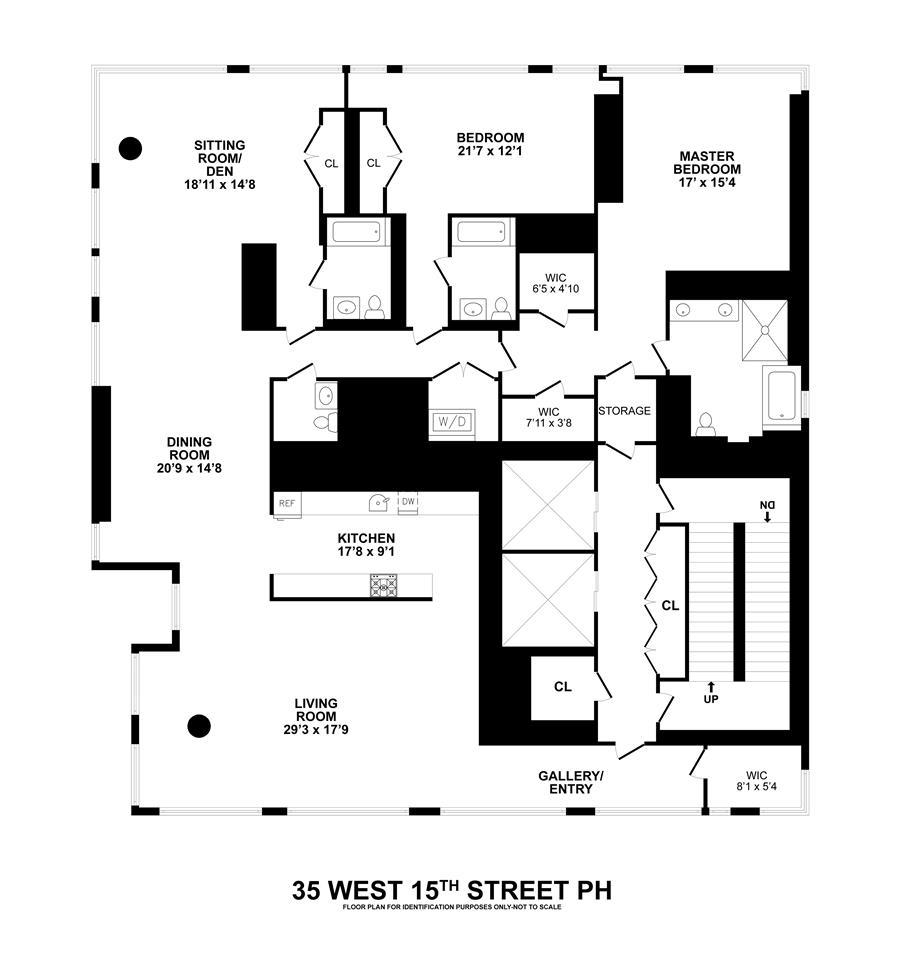 Floor plan of 35XV, 35 West 15th Street, PH - Flatiron District, New York