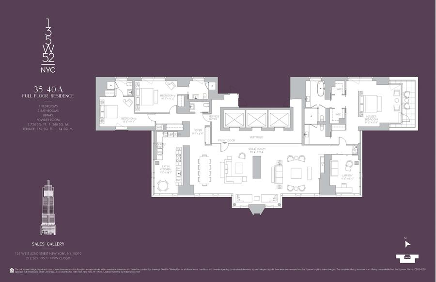 Floor plan of 135 West 52nd St, 35A - Midtown, New York
