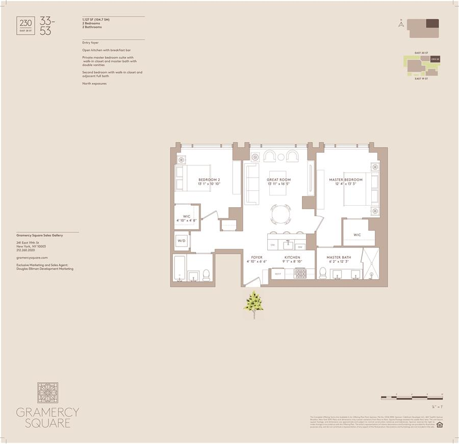 Floor plan of Gramercy Square, 230 East 20th St, 33 - Gramercy - Union Square, New York