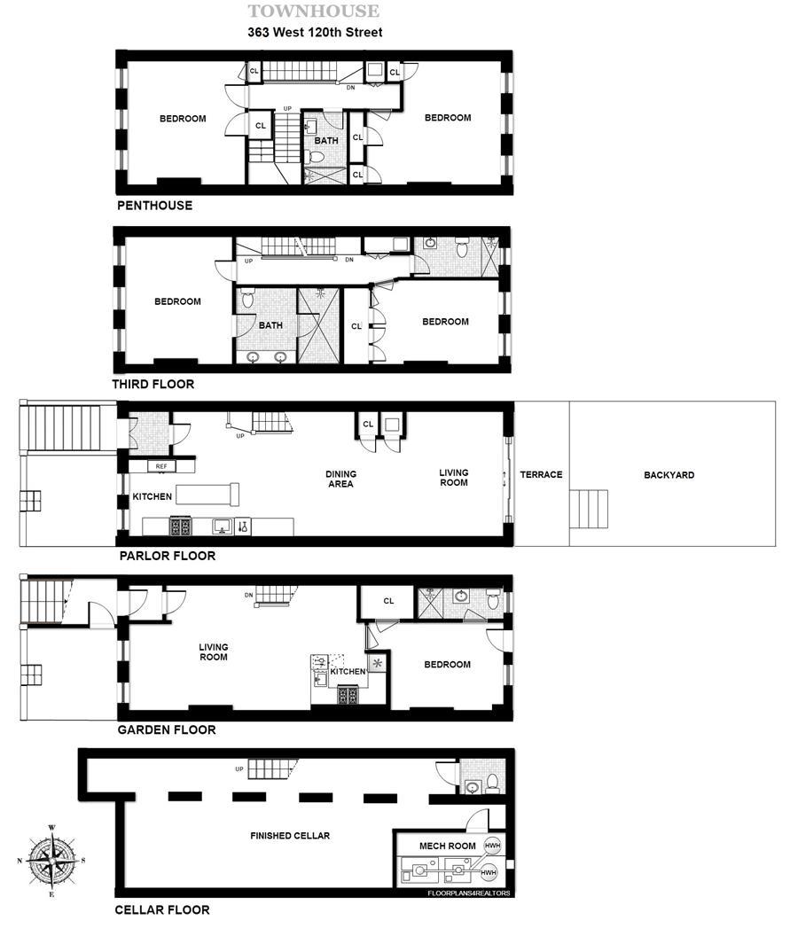 Floor plan of 363 West 120th Street - Harlem, New York
