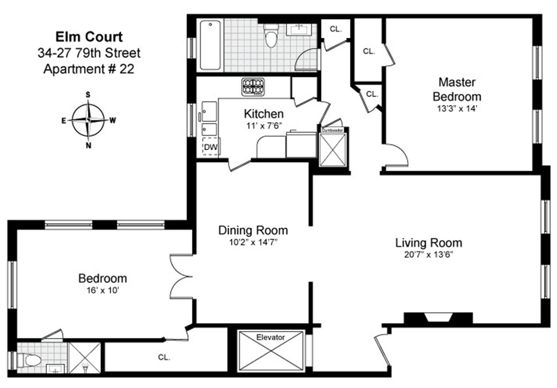 Floor plan of 34-27 79th St, 22 - Jackson Heights, New York