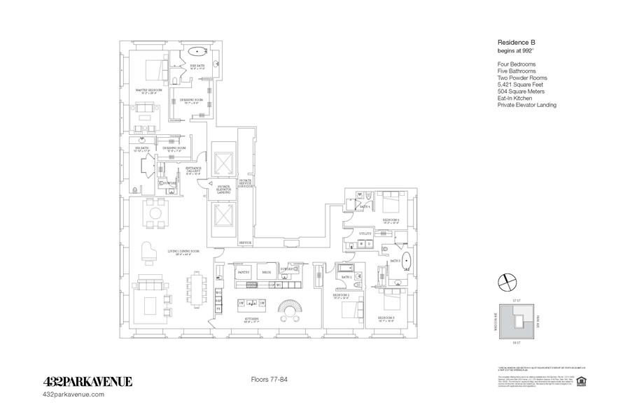 Floor plan of 432 Park Avenue, 81B - Midtown, New York