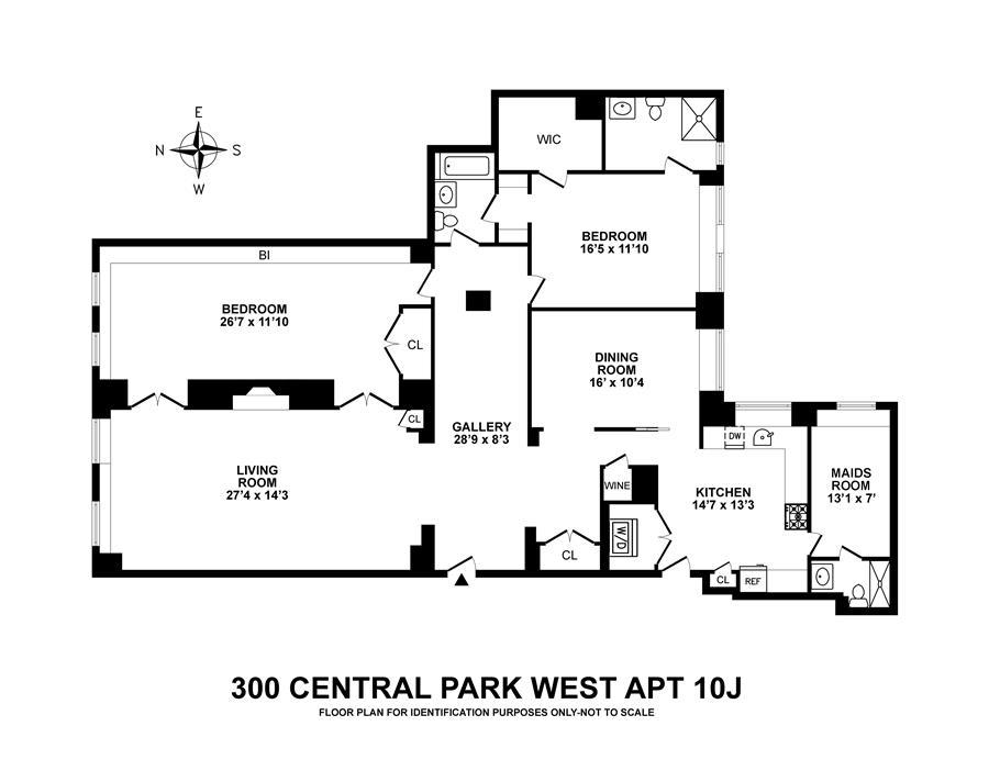 Floor plan of EL DORADO, 300 Central Park West, 10J - Upper West Side, New York