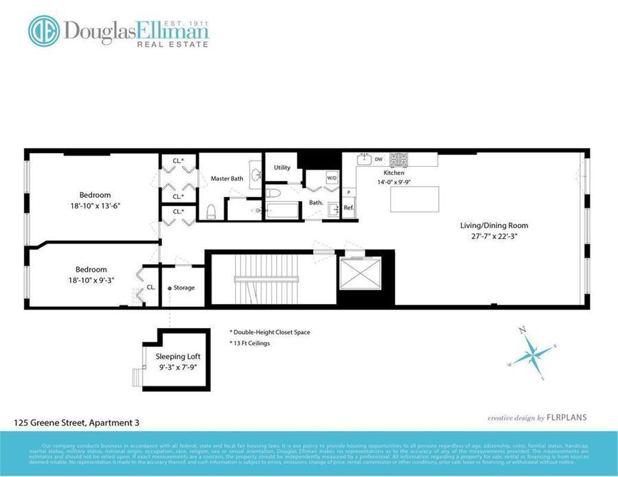 Floor plan of 125 Greene St, 3 - SoHo - Nolita, New York