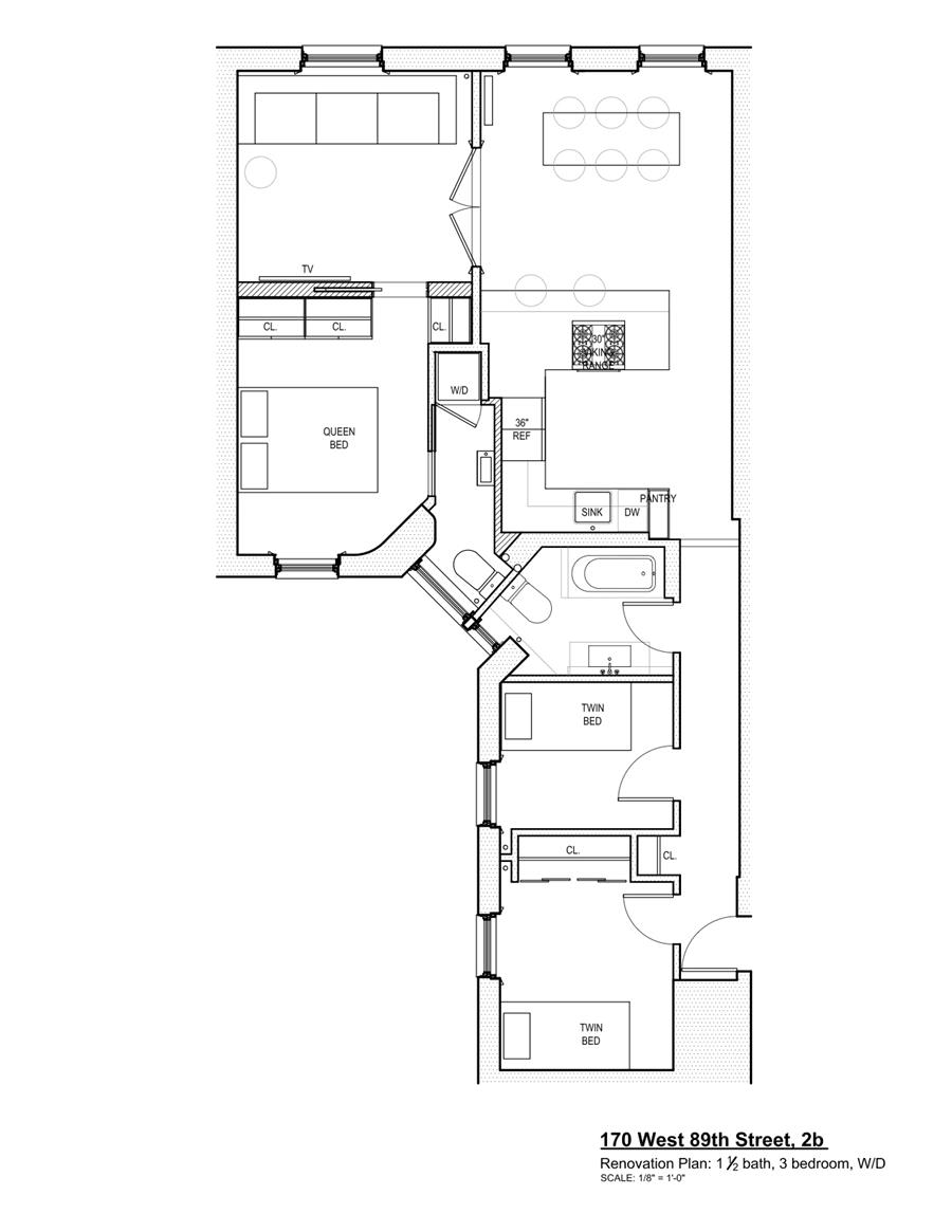 Floor plan of 170 West 89th St, 2B - Upper West Side, New York