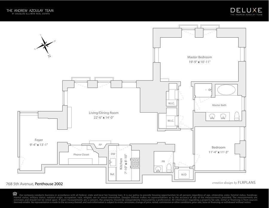 Floor plan of The Plaza Residences, 1 Central Park South, PH2002 - Central Park South, New York