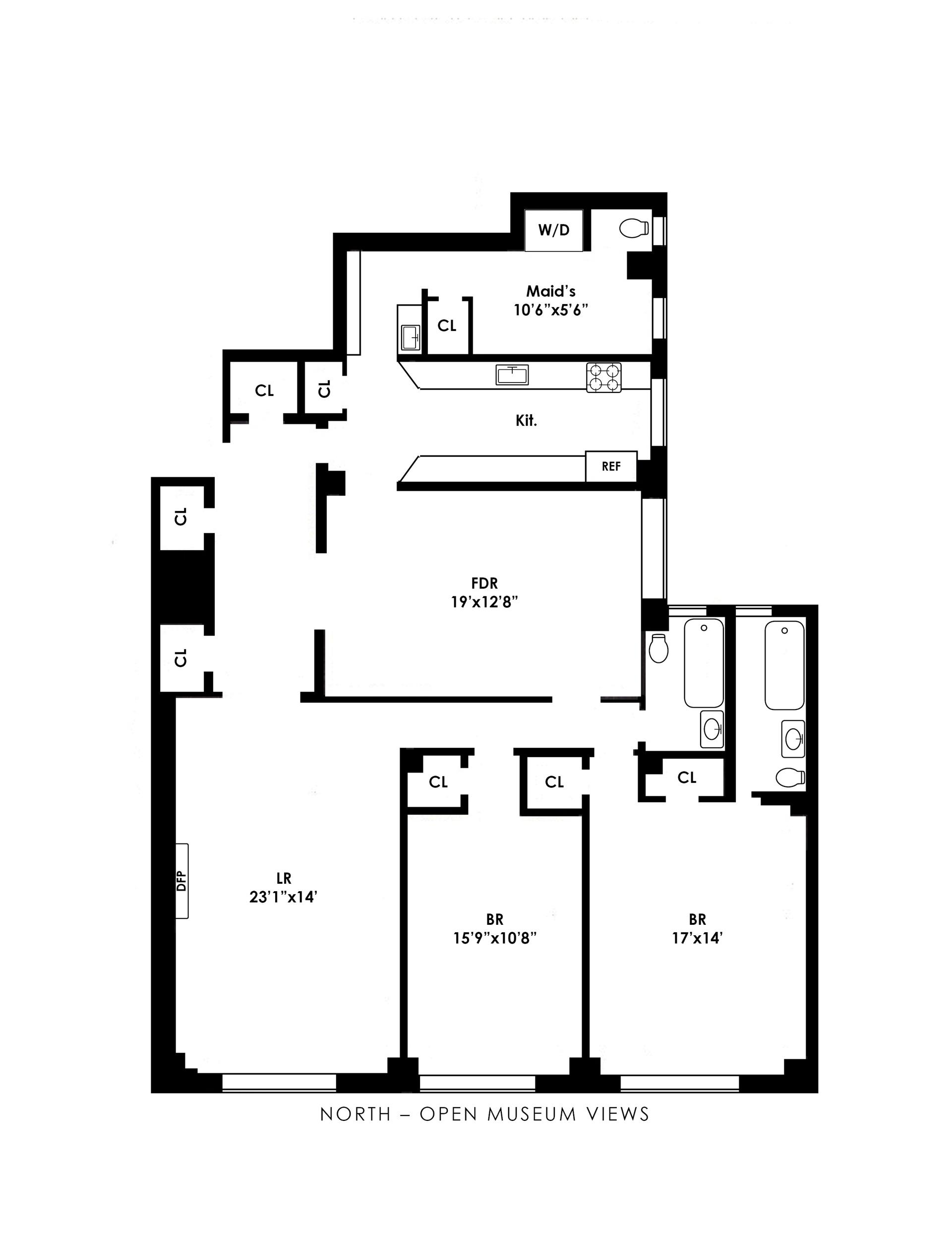 Floor plan of 40 West 77th St, 11E - Upper West Side, New York