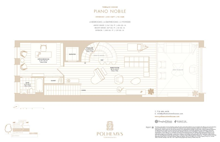 Floor plan of Polhemus, 96 Amity St - Cobble Hill, New York