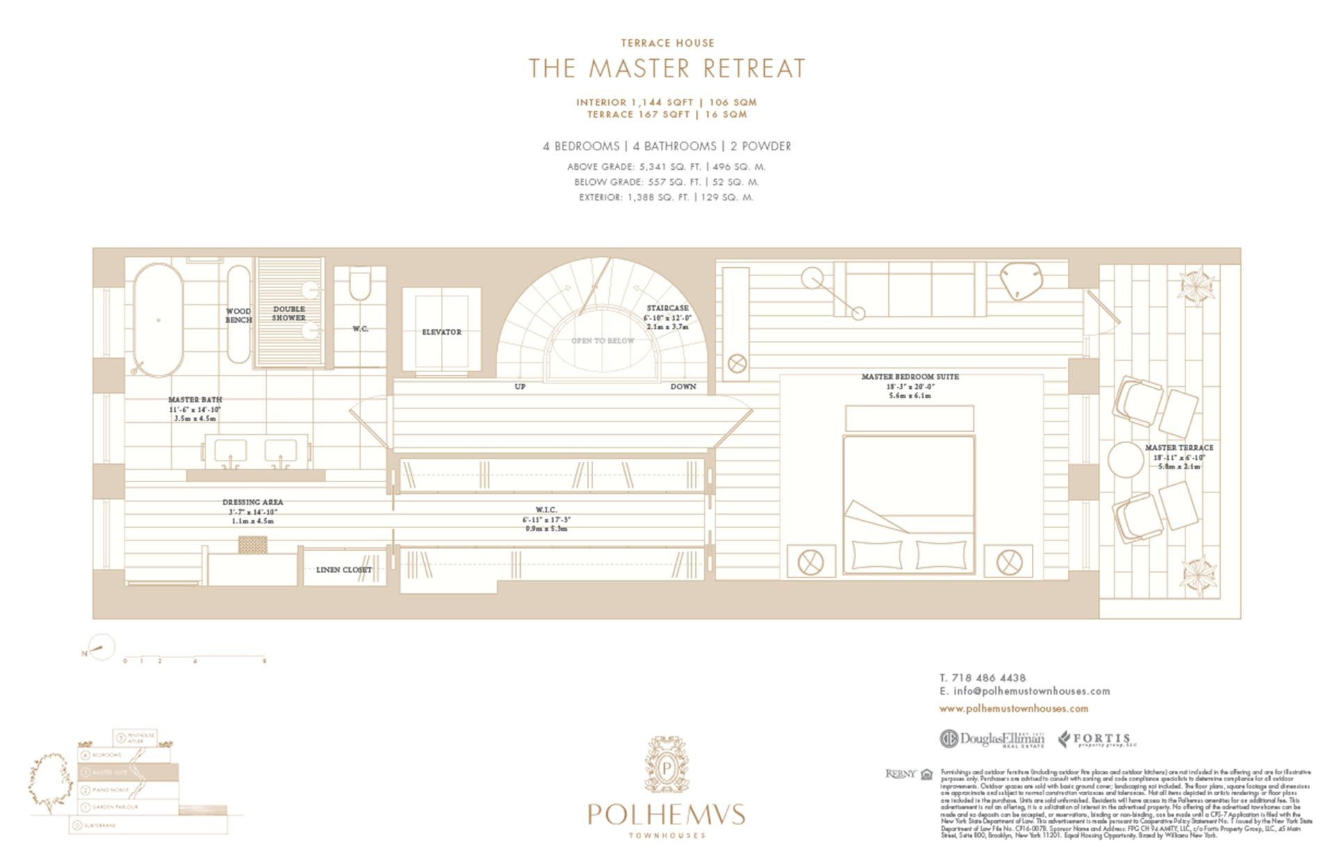 Floor plan of Polhemus, 96 Amity St - Cobble Hill, New York