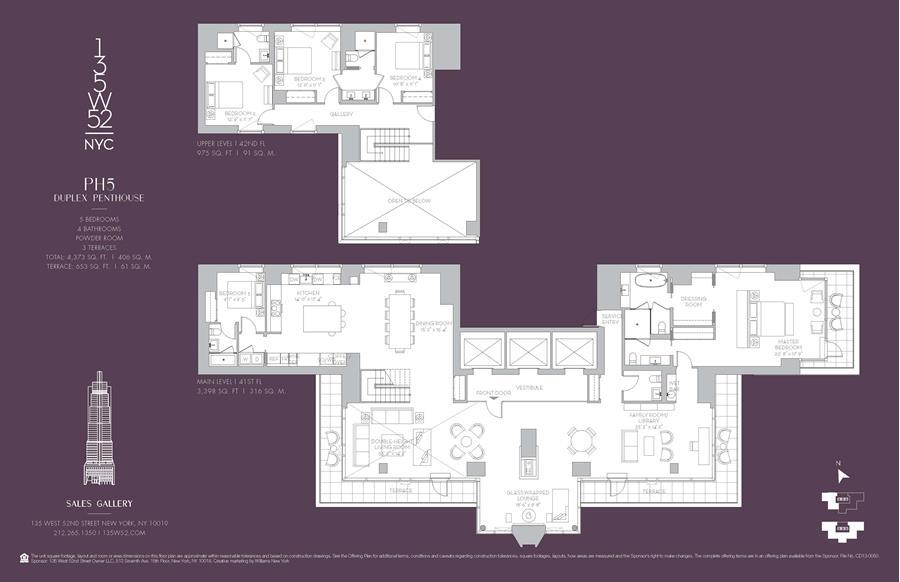 Floor plan of 135 West 52nd St, PH5 - Midtown, New York