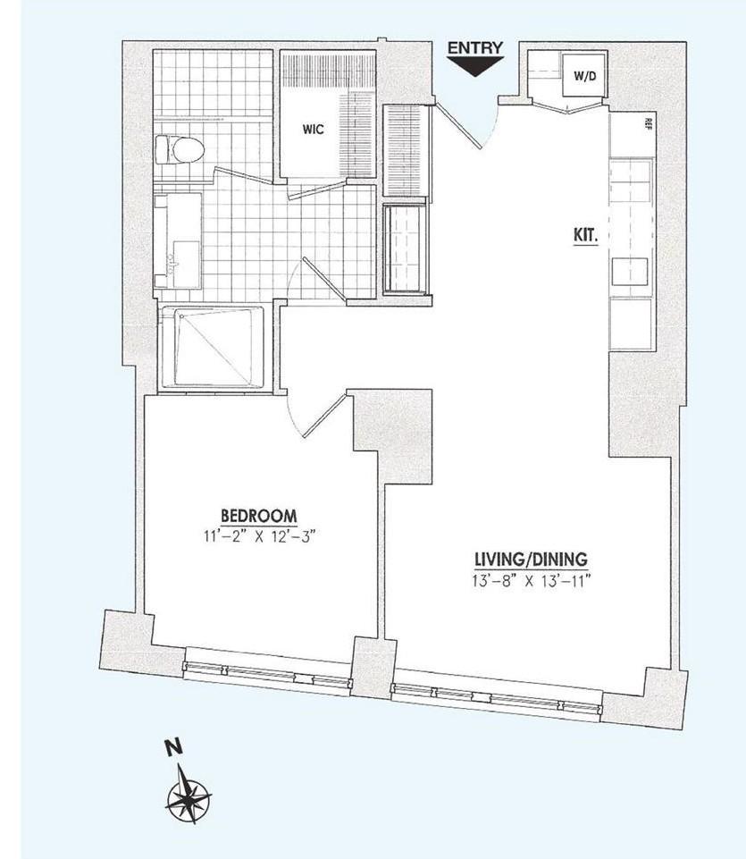 Floor plan of 15 William, 15 William St, 30B - Financial District, New York